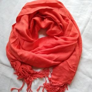 Accessories - Coral scarf. 70 inches long